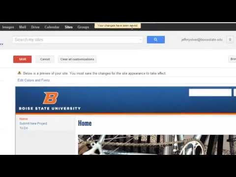 How to change from one Google site template to another (for Google ...