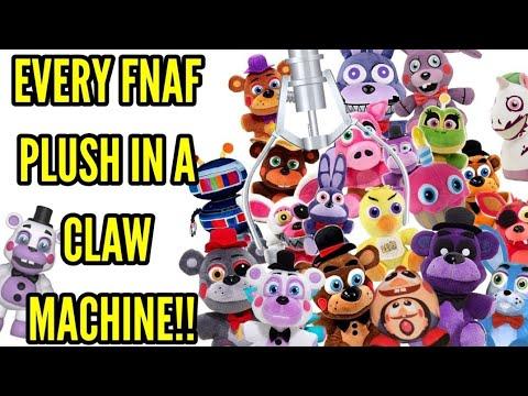 EVERY SINGLE FNAF PLUSH IN A CLAW MACHINE!!!•Pandog76