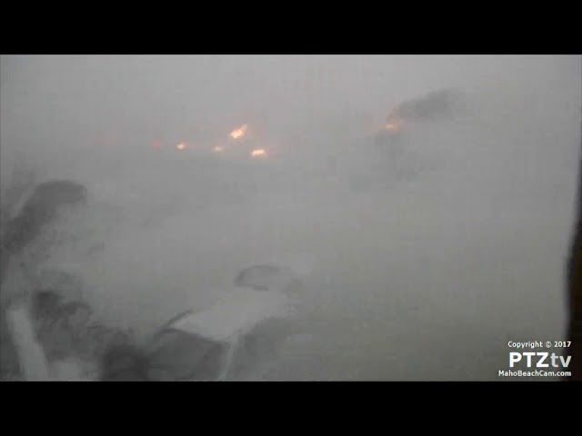 Live footage as Hurricane Irma destroys Maho Beach Cam in St Maarten   9/6/2017