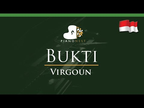 Virgoun - Bukti (Indonesian Song) - LOWER Key (Piano Karaoke / Sing Along)