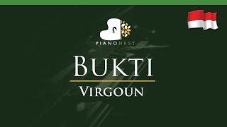 Virgoun - Bukti (Indonesian Song) - LOWER Key (Piano Karaoke / Sing Along)