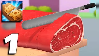 Food Cutting - Chopping Game - Gameplay Part 1 (Android, iOS) screenshot 2
