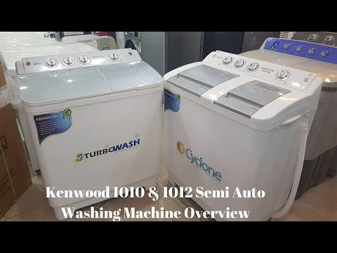 Kenwood Washing Machine 1012 1010 Overview Kenwood Semi Automatic Washing Machine Pakref Com Youtube