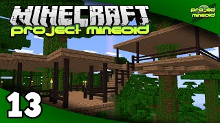 Project Mineoid (Minecraft Modded SMP) - Ep. 13: Jungle Base Basics