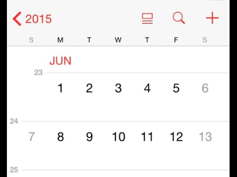 How to Show Week Numbers in Calendar for iPhone & iPad