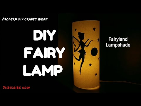 Fairy Tale lampshade || How to make fairy-tale lampshade using paper || DIY Fairyland Fairytale lamp