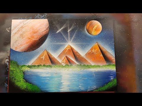 [TUTO FR]- HORUS – Egyptian God Spray Painting (Horus Dieu Egyptien)