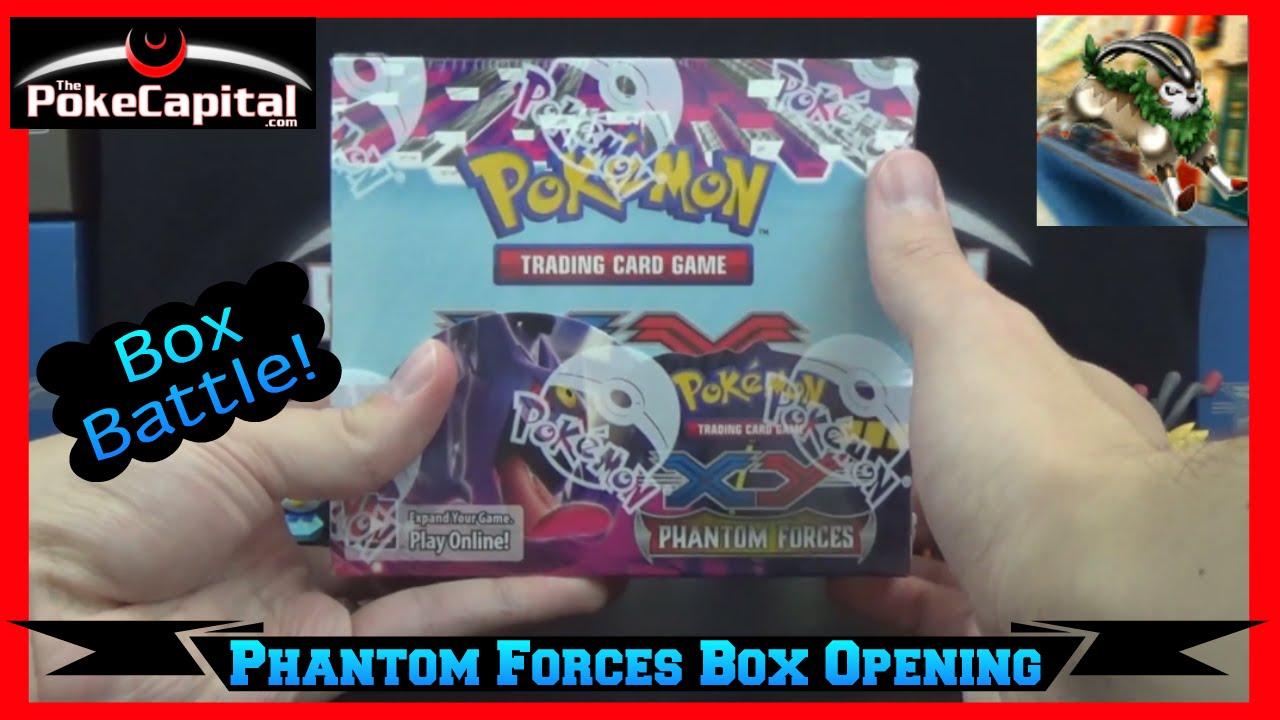 Pokemon xy phantom forces booster box opening battle vs gogogogoat