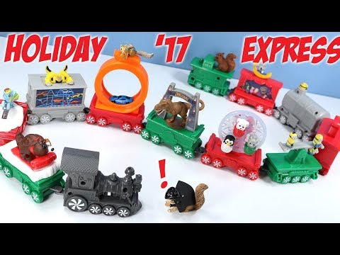 Happy Meal Holiday Express Train McDonalds Toys Full Collection 2017