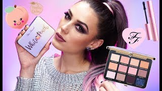 NEW Too Faced White Peach Eyeshadow Palette | Makeup Tutorial + REVIEW | Victoria Lyn Beauty