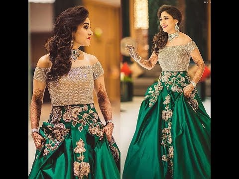 Latest Gown Designs /Indian Bridal Gowns/Long Gown Dress Idea | Maharani Designer Boutique