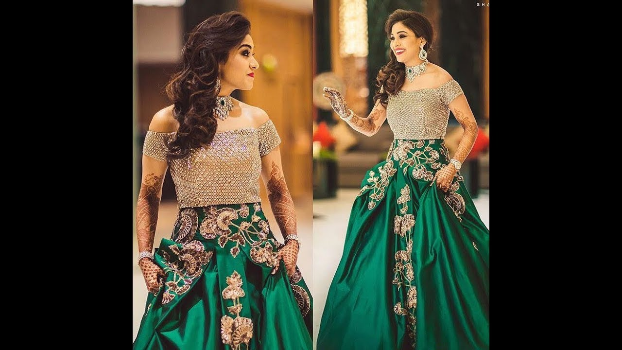 Latest Gown Designs /Indian Bridal Gowns/Long Gown Dress Idea ...