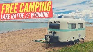 FREE CAMPING at Lake Hattie, Wyoming 🚐🇺🇸 RV & Van Boondocking near Laramie ✌ Full Time RV Living