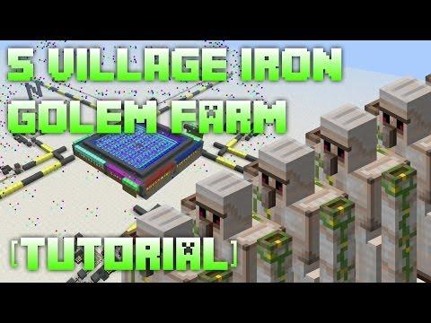 5 Village Iron Golem Farm [Tutorial]