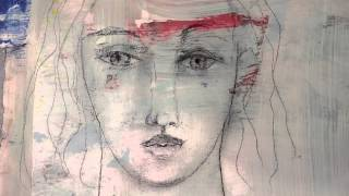Repeat youtube video Mixed Media Face On Painted Paper