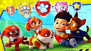 Райдер и его щенки вместе собираем пазлы для детей с героями мультика PAW Patrol Щенячий патруль