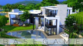 The Sims 4 Speed Build   MODERN BASEGAME MANSION   NOCC