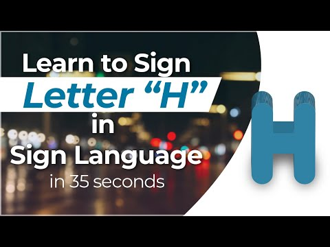 """How To Sign The Letter """"H"""" In Sign Language?"""