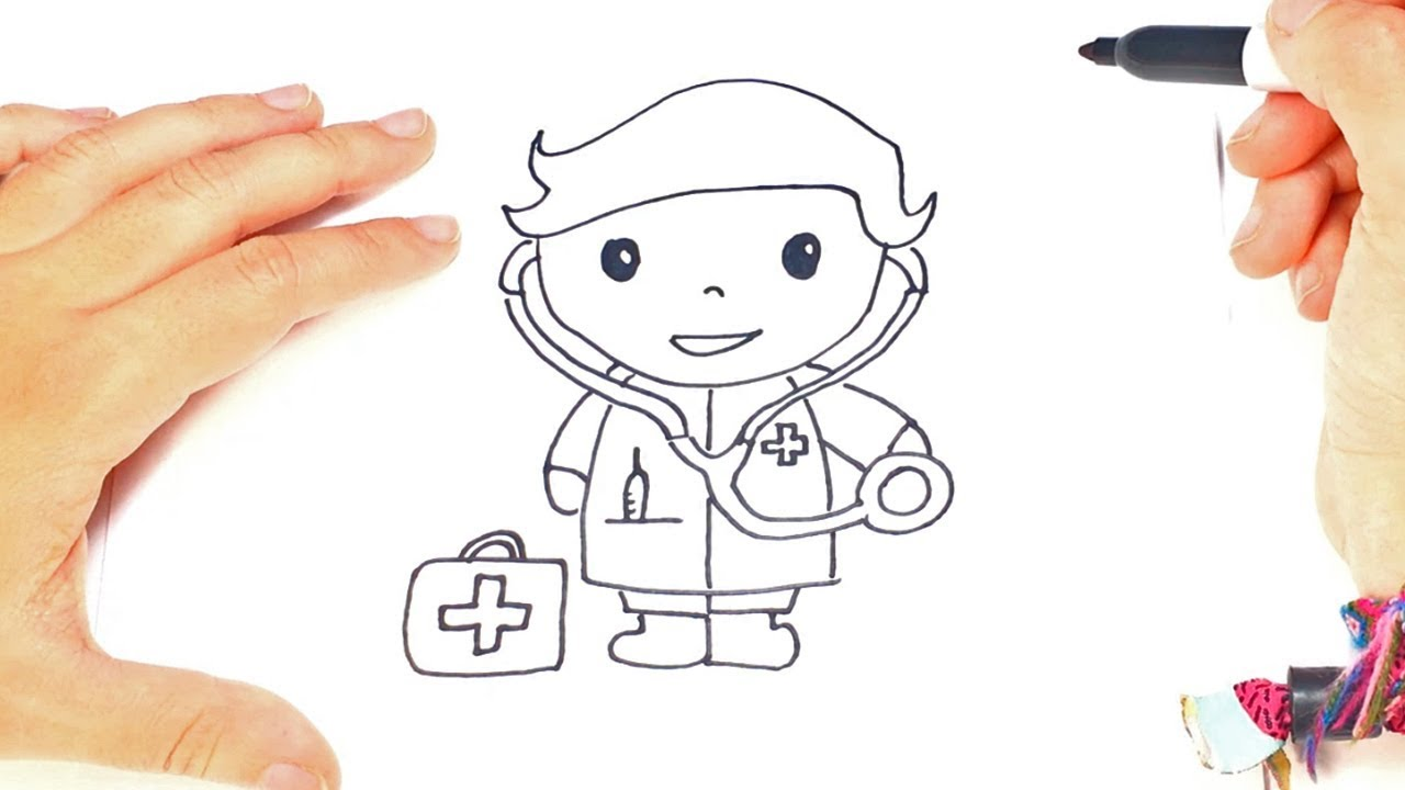 How To Draw A Doctor Step By Step Doctor Drawing Lesson Youtube