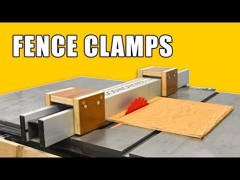 Make Table Saw Fence Clamps / Saddle Clamps Table Saw Jig