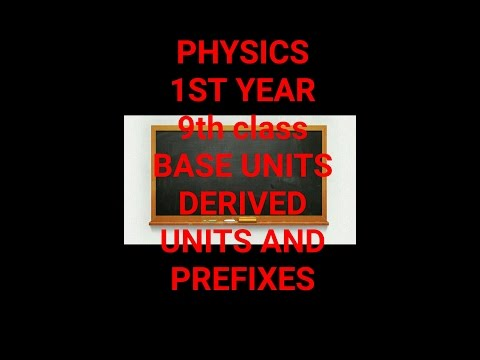 Lecture physics 11th , 9th class base units derived units and frefixes