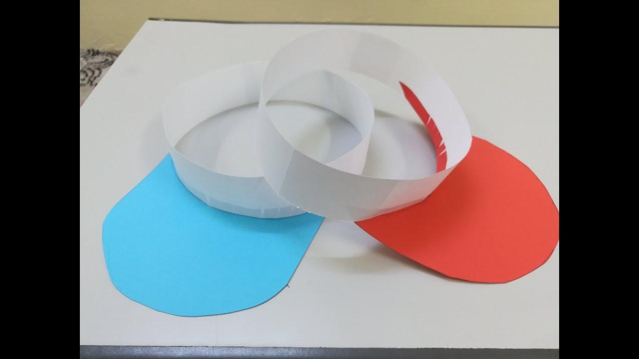 Como hacer una gorra de papel - Manualidad  Gorrita de papel - YouTube 26d34419749