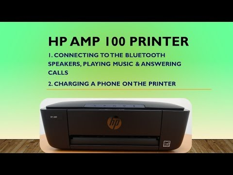 HP AMP 100 printer : Connect Bluetooth Play music Answer calls & charge phone