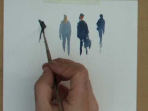 Painting simple figures in watercolour