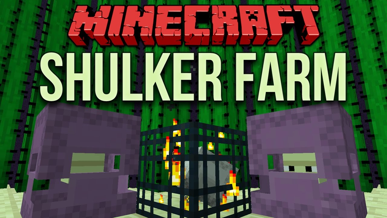 Minecraft 1 11 Automated Shulker Farm With Mob Spawner Youtube