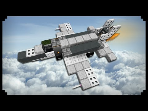 ✔ Minecraft: How to make a Fighter Jet