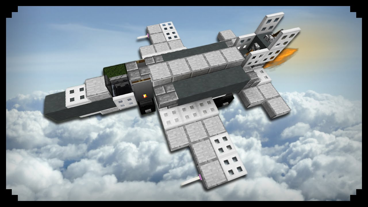 Jet Privato Minecraft : Minecraft how to make a fighter jet youtube