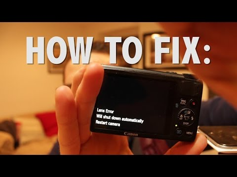 How to Quick Fix Canon s100 Lens Error and Your Existential Dread