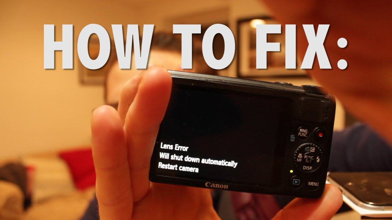 How to quick fix canon s100 lens error and your existential dread how to quick fix canon s100 lens error and your existential dread youtube sciox Images