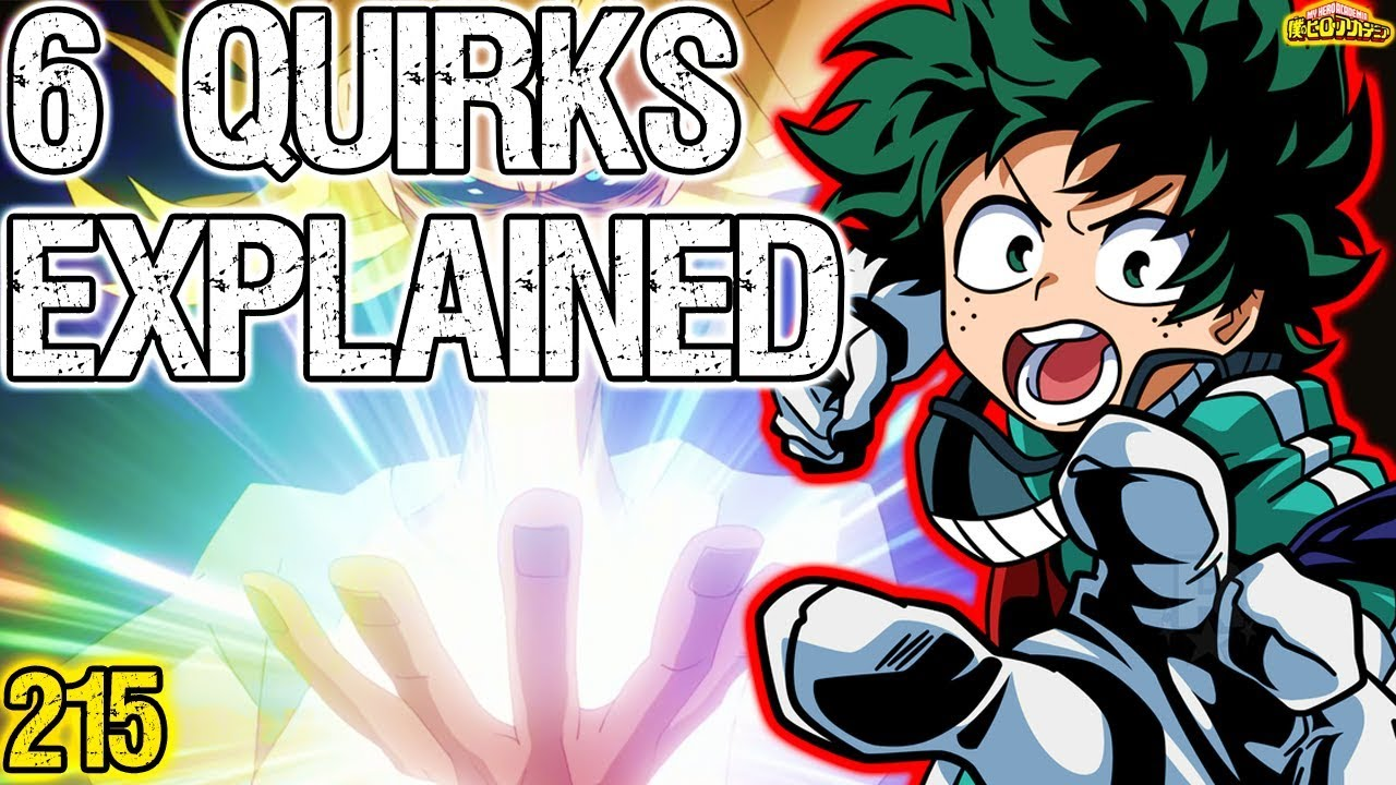 Deku's One For All 6 Quirks Explained - My Hero Academia 215
