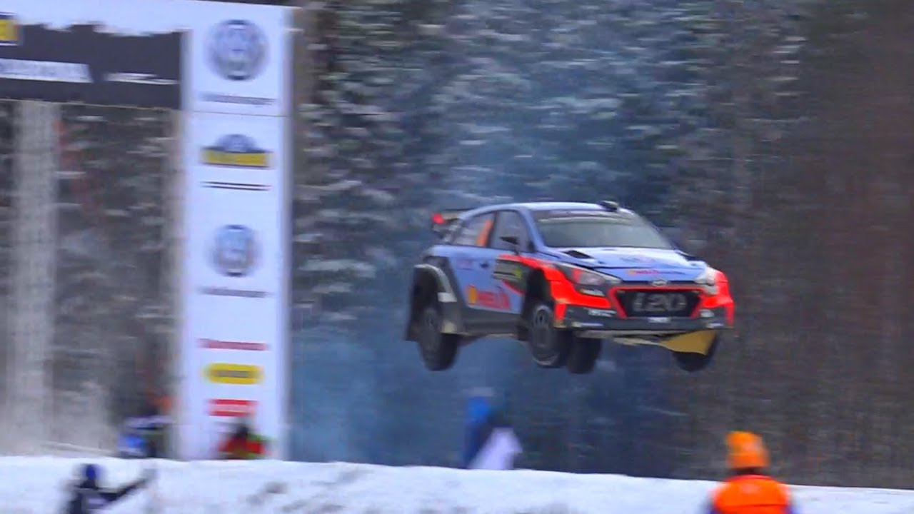 Rally Sweden Thierry Neuville Huge Jump YouTube - Rally sweden map 2016
