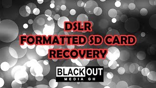 How To Recover DSLR Formatted SD Card In Camera