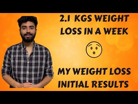 LOST 2 KGS IN A WEEK | WEIGHT LOSS WITHOUT EXERCISE | MY INITIAL RESULTS | HOW TO LOSE WEIGHT | 🔥🔥🔥