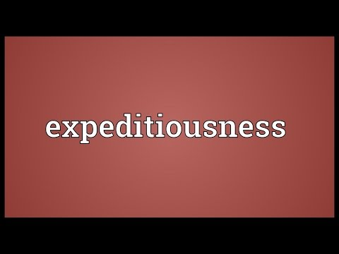 Header of expeditiousness