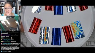 Nail Polish Testing | Patriotic Foils Extended Nail Art Tutorial [Streamed 6/26/19]