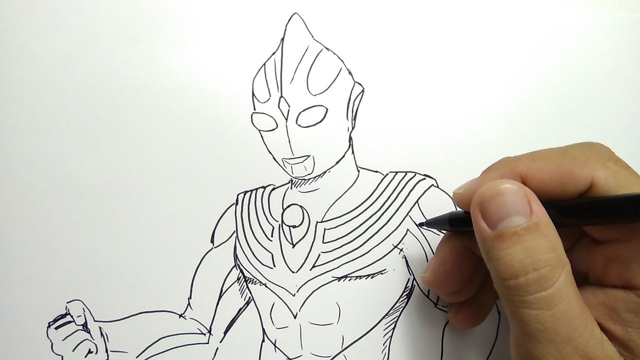 Cara Menggambar Ultraman Tiga How To Draw Ultraman Tiga Youtube