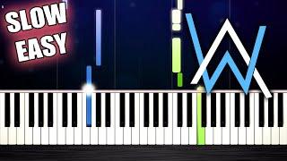 Alan Walker - All Falls Down - SLOW EASY Piano Tutorial by PlutaX