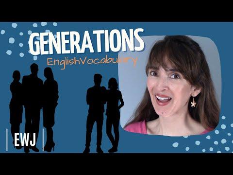 Generations (Gen X, Millennials & more!) ?? English Vocabulary with Jennifer