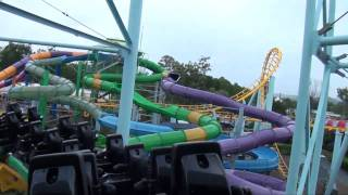 Cyclone Steel Roller Coaster Back Seat POV Dreamworld Australia