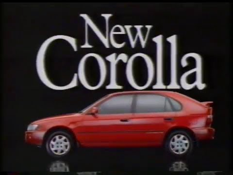 "Toyota Corolla 1994 Australian TV ad - ""The really roomy ..."