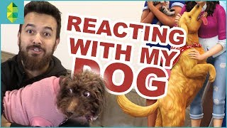 REACTING with MY DOG | The Sims 4 Cats & Dogs TRAILER!