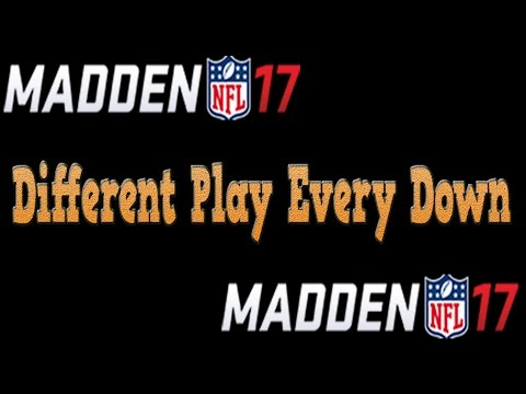 [Madden 17] Different Play Every Down [Zero Repeats] while Chewing Gum! :D