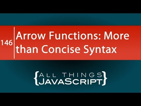 JavaScript Arrow Functions are More than Just Concise Syntax thumbnail