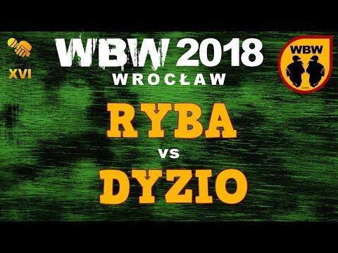 bitwa RYBA vs DYZIO # WBW 2018 Wrocław (finał) # freestyle battle