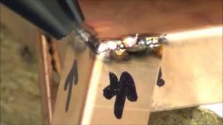 Cварка медных листов аппаратом Orion 250s(Импульсно-дуговая сварка (TIG-сварка) медных пластин вольфрамовым электродом в аргонной среде. Используется..., 2014-12-23T13:33:46.000Z)