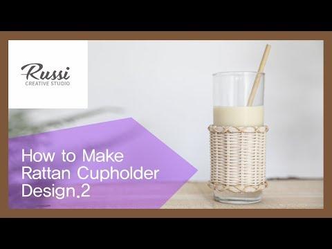 라탄 컵홀더 디자인.2[라탄공예] 취미 수업 온라인클래스 20 /Rattan Craft : Rattan Cup Holder Design.2/이케아,DIY,라탄클래스